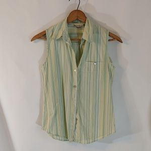 Chico's Tops - Chico's Button Down Sleeveless Cotton Top sz 0